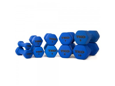 NEOPRENE Coated DUMBBELLS, BLUE