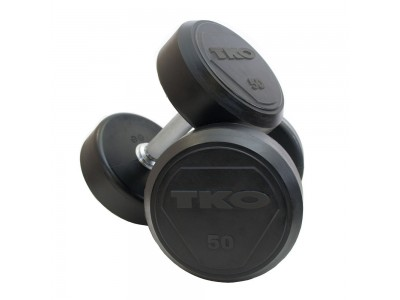 SOLID STEEL RUBBER DUMBBELLS