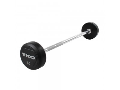 20 - 110 LB. TKO RUBBER STRAIGHT BAR SET